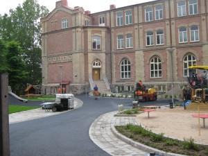 Annedalsskolan snart färdig-renoverad.Foto  23/6-2015