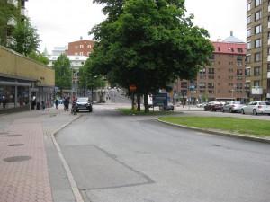 Brunnsgatan sedd från Västergatan mot Övre Husargatan 23/6-2015