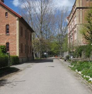 Folkskolegatan sedd från Carl Grimbergsgatan 2015  Annedals lägenhetsmuseum till vänster