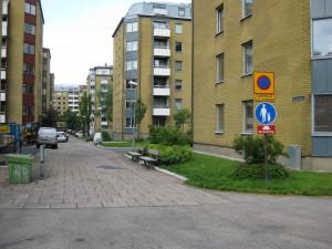 Rygången sedd fr.Carl Grimbergsgatan 23/6 2015