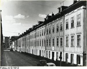Snickaregatan sedd från Carl Grimbergsgatan