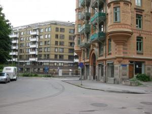 Föreningsgatan mot Västergatan Fr. C.Grimbergsgat. 23/6-2015